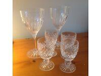 Vintage Waterford Crystal Sherry, Wedgewood & Wells Crystal