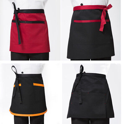 Half Length Short Apron Women Men Kitchen Cooking Waitress Waist Aprons