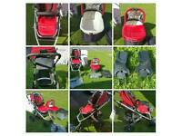 Uppababy vista travel system push chair and carrycot