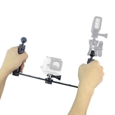 Staffa per illuminazione subacquea con supporto per stabilizzatore di GoPro