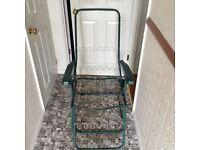 Metal frame of garden chair