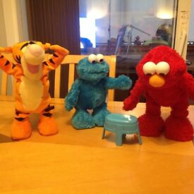 Elmo, Cookie Monster & Tigger