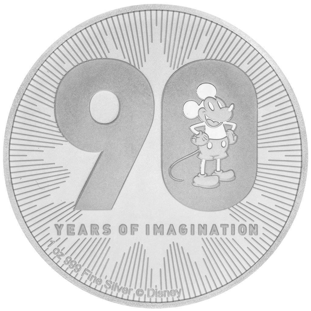 Niue 2 Dollar 2018 Disney™ Mickey Mouse™ 90. Geburtstag - 1 Oz Silber ST
