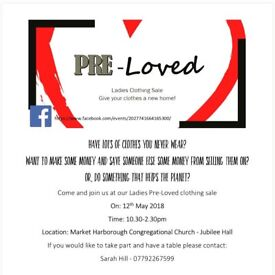 Ladies Pre-Loved Clothing Sale - Market Harborough, 12th May 2018