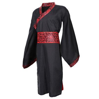 Chinesischer Hanfu Cosplay Kostüm für Männer, Schwarz