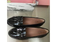 Moda in pelle Errica black patent leather shoes size 5/38
