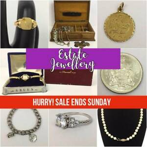 GOLD, Diamonds, Sterling, Pendants, Rings, Bracelets, Gemstones, Watches, BLOW OUT SALE! Everything must go! Ends Sunday