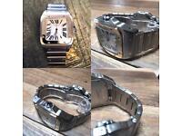 Cartier Santos Xl 18k bezel