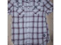 Vintage diesel check t-shirt