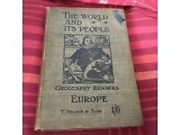 ANTIQUE BOOK The World and its People from 1902 good condition