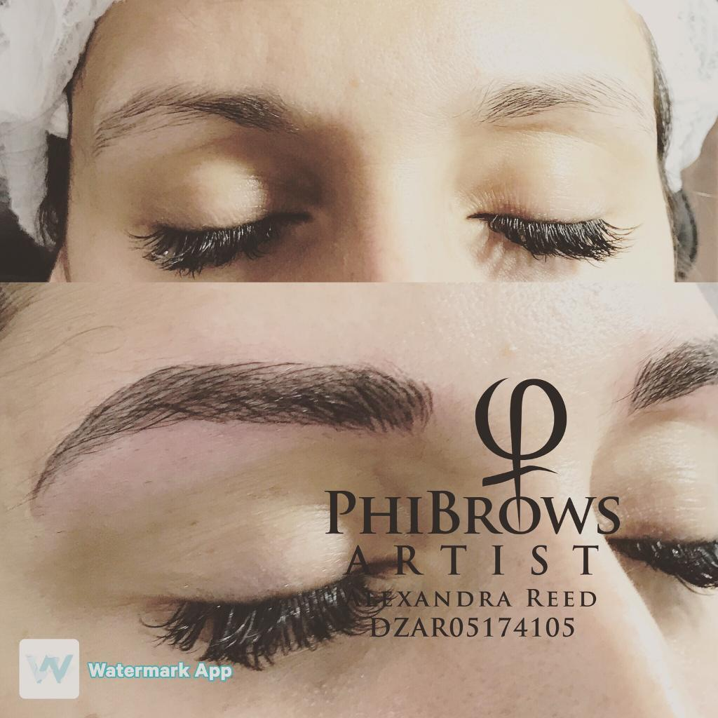 Semi permanent makeup and phi brows microblading