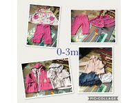 Baby girls clothes bundle newborn to 3-6m
