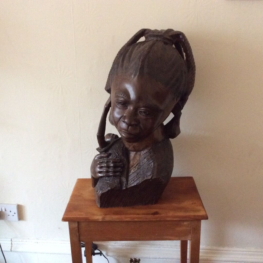 Hand carved bustin Southside, GlasgowGumtree - Hand carved wooden bust, not sure of wood, 60 x 40. Pick up Shawlands weighs about 20kg