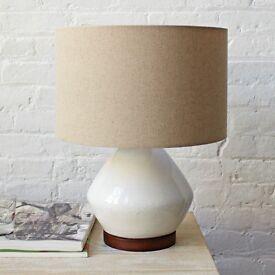 West Elm Mia Table Lamp: white
