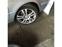 """Vw golf wheels 17"""" 4 mint tyres"""