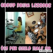 Cousins/siblings group drum lessons Albion Brisbane North East Preview