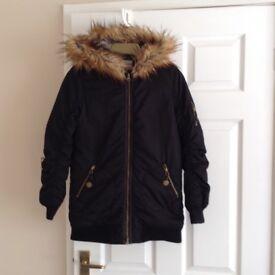 Girls school coat and boots.