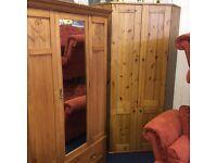 Large corner desk / wardrobe in pine
