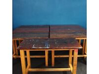 VINTAGE OLD SCHOOL ART TABLE , complete with 100% original paint drips, splashes & over-spray