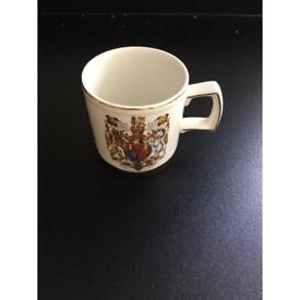 Wood &Sons vintage collectible mug commemorating marriage of Prince Wales &Lady Diana