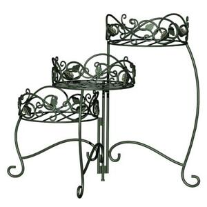 Like New Panacea 3-Tiered Folding Scroll and Ivy Plant Stand Black PICKUP ONLY - PU0