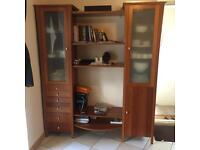 Marks and Spencer solid wood display cabinet