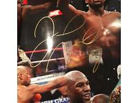 Floyd Mayweather jr hand signed poster