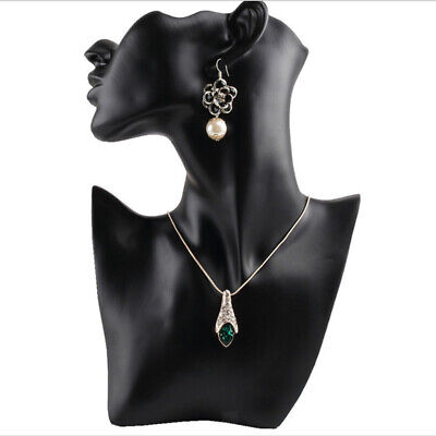 Resin Earring Necklace Display Bust Stand Mannequin - Jewelry Holder For