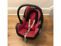 Maxi Cosi Car Seat With New Born Insert And Bugaboo Cameleon Buggy Attachments