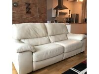 White leather sofa - RECLINER
