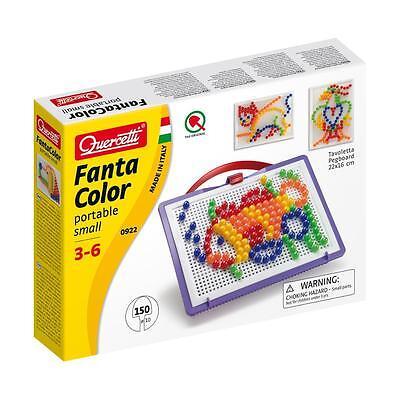 Quercetti Steckspiel, Steckmosaik, Fanta Color, 150 Steckkugeln Steckerspiel