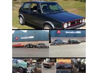 Golf mk1 and Mk2 caddy Tintop and cabriolet wanted any condition