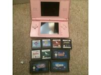 Pink nintendo Ds lite games bundle