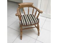 SOLID PINE CAPTAIN'S CHAIR