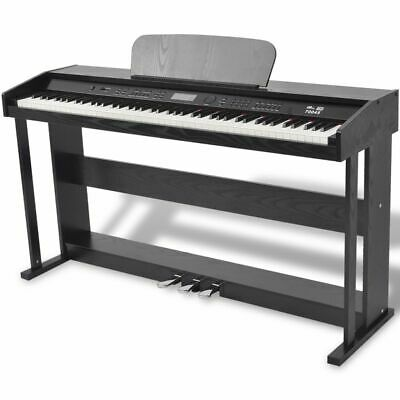 vidaXL 88-Key Digital Piano w/ Pedals Black Melamine Board K