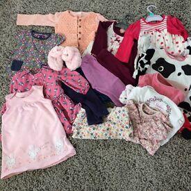 Girls 9-12 months beautiful clothing bundle