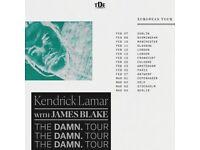 2x Kendrick Lamar DAMN Tour tickets @ O2 Arena London (Seated Block 101)