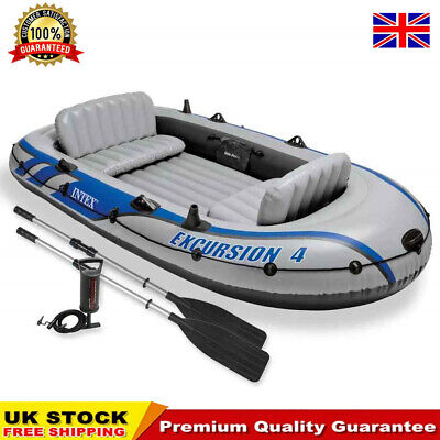 Intex Excursion 4 Set Inflatable Boat with Oars and Pump 68324NP Fishing Boat