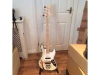Unique Road Worn Jazz Bass Guitar. Right Handed