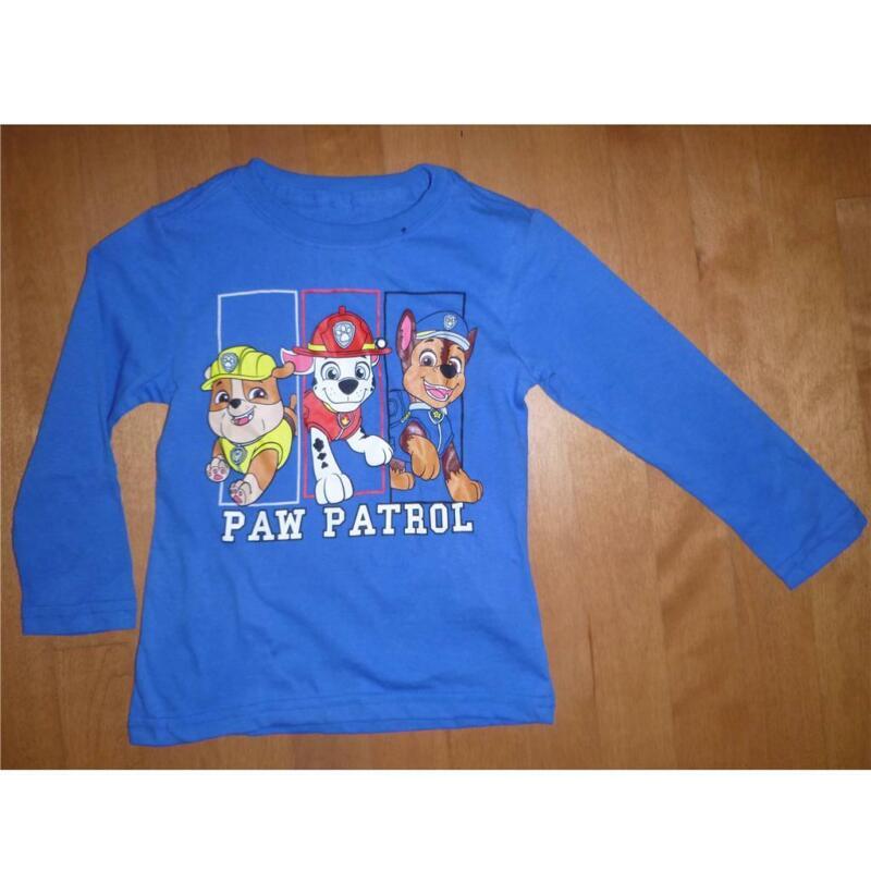 Toddler Boys Girls PAW PATROL Long Sleeve T-Shirt Size 2T 3T 4T 5T NWT Blue