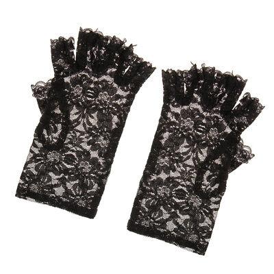 ndschuhe in Weiß, Schwarz und Rot, Einheitsgröße (Rote Und Schwarze Fingerlose Handschuhe)