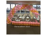 Balloon decorations / Chair covers