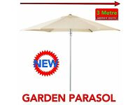 NEW GARDEN UMBRELLA PARASOL LARGE HEAVY DUTY DINING PARSOL SHADE CANOPY SUNLIGHT PROTECTION CREAM