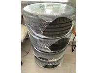 Alloys & Tyres Audi S4/S3/TT/A3 VW Golf/Seat/Skoda 19 inch black gloss targa 4 wheels and tyres