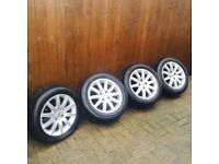 Peugeot 308 Alloy Wheels With Tyres x 4 Original Wheels