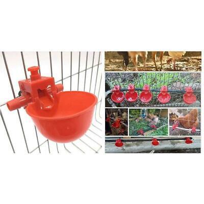 20x Chicken Drink Quail Waterer Bowls Bird Automatic Feeder Drinking Cups