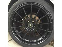 """18"""" fox alloy wheels and tyres"""