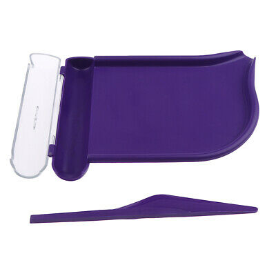 Right Hand Pill Counting Tray with Spatula Purple