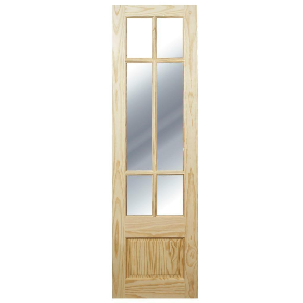 Pair of interior part glazed french doors and fitting kit for Glazed french doors