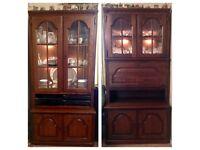 Karel Mintjens Solid Oak Drinks and Display Cabinets